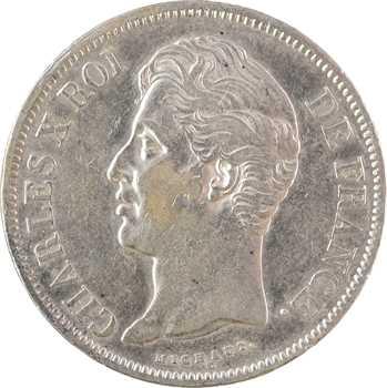 Charles X, 5 francs 2e type, 1830 Paris