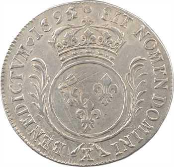 Louis XIV, écu aux palmes, 1695/4/3 Amiens