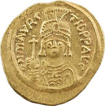 Maurice Tibère, solidus, Constantinople, 2e officine, 582-602