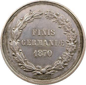 Guerre de 1870, module de 5 francs satirique, 1870 Bruxelles ?