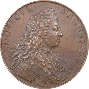 Louis XIV, le cardinal de Noailles, par Delahaye et Roussel, s.d. Paris, refrappe avant 1832