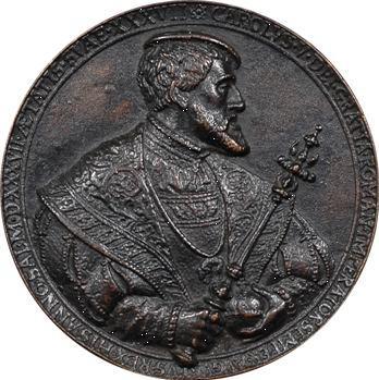 Saint Empire, Charles Quint, médaille par Hans Reinhart le Vieux, 1537, fonte moderne
