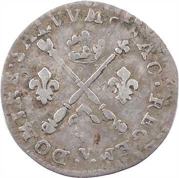 Louis XIV, cinq sols aux insignes, 1702 Troyes