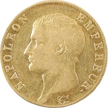Premier Empire, 40 francs tête nue, calendrier révolutionnaire, An 13 Paris