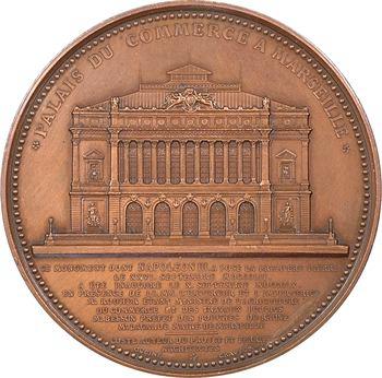 Second Empire, inauguration du Palais du Commerce à Marseille, par Oudiné, 1860 Paris