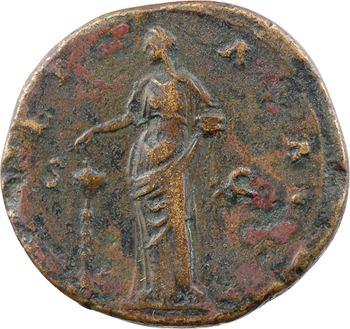 Divine Faustine Mère, sesterce, Rome, après 141