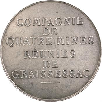 IIIe République, jeton des Mines de Graissessac (Hérault), 1864 (1891)