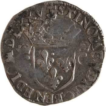 Henri III (au nom de Charles IX), demi-teston 2e type, 1575 Rennes
