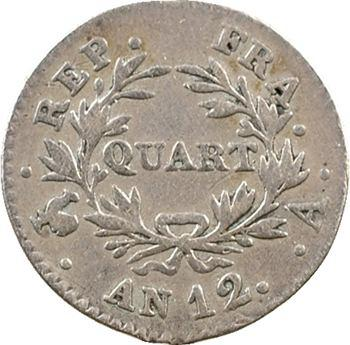 Consulat, quart de franc, An 12 Paris