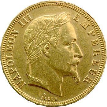 Second Empire, 50 francs tête laurée, 1863 Strasbourg