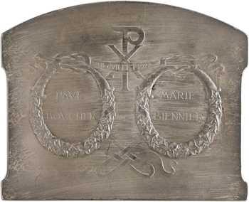 Armand-Calliat (T.-J.) : Et sit vobis semper …, plaquette de mariage, 1922 Lyon