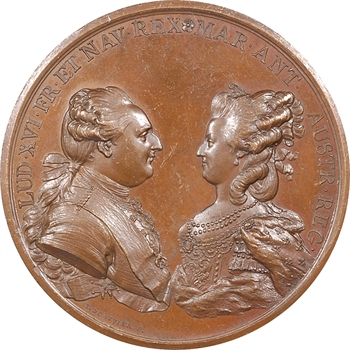 Louis XVI et Marie-Antoinette, naissance du Dauphin, pour les six corps de marchands, 1781 Paris