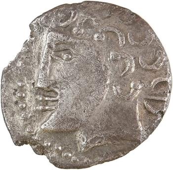 Durocasses/Carnutes/Bituriges, drachme KOIIOC à l'oiseau, c.60-52 av. J.-C