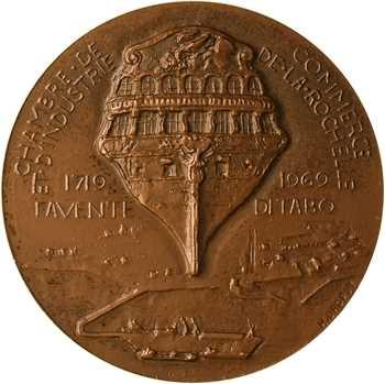 Ve République, 250e anniversaire de la Chambre de Commerce de la Rochelle, par Dropsy, 1719-1969 Paris