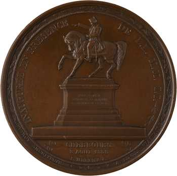 Second Empire, statue équestre de Napoléon Ier à Cherbourg (Égypte), 1858 Paris