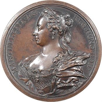 Autriche, Marie-Thérèse, ses succès militaires remportés par la raison et les armes, par Jean Dassier, 1745