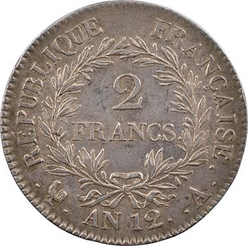 Premier Empire, 2 francs calendrier révolutionnaire, An 12 Paris