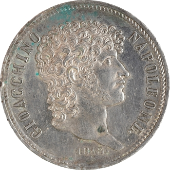 Italie, Naples et Deux-Siciles (royaume de), Murat, 5 lire 1813 Naples
