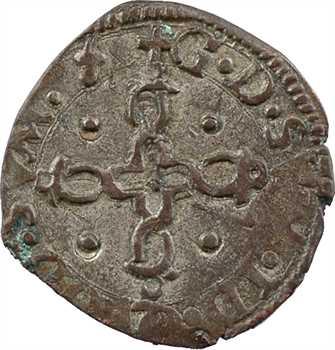 Béarn (seigneurie de), Henri II, liard au monogramme, Pau