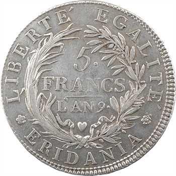 Italie, Gaule subalpine, 5 francs, An 9 Turin