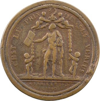 Constitution, les vertus de Louis XVI, 14 juillet 1790, surmoulé ancien
