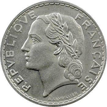 IIIe République, essai de 5 francs par Lavrillier, 1933 Paris
