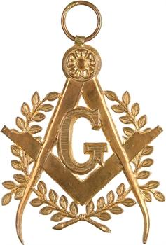 Second Empire, franc maçonnerie, bijou de maître, par GLOTON, s.d