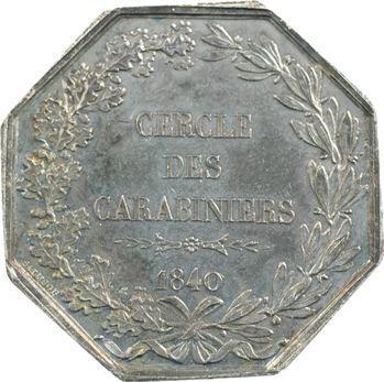 Paris, Cercle des Carabiniers, prix d'adresse, par Rogat, 1840 Paris