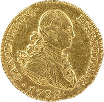 Espagne, Charles IV, 1 escudo, 1792 Madrid