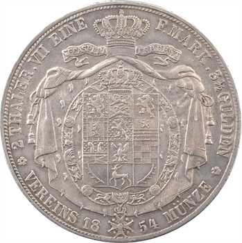 Allemagne, Brunswick-Lunebourg (duché de), Guillaume, double thaler, 1854 Hanovre