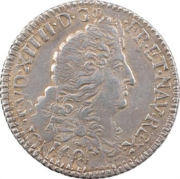 Louis XIV, quart d'écu aux huit L, 1er type, 169[1] Troyes