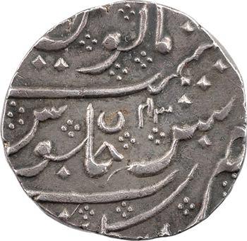 Indes françaises, Shah Alam II, roupie, AH 1221/43 (1806) Arcate