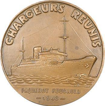 Fraisse (Claude) : médaille des Chargeurs Réunis, paquebot Foucauld, 1948 Paris