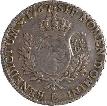 Suisse, Berne, écu au bandeau, surfrappé 40 batzen à Berne (1816-1819)