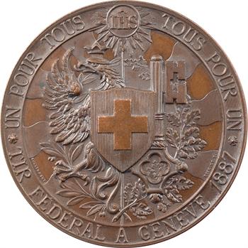 Suisse, Genève, concours de tir fédéral, par Bovy, 1887