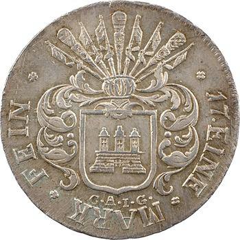 Allemagne, Hambourg (ville de), 32 shillings 2e type, 1809 Hambourg