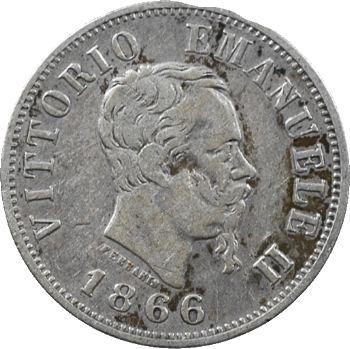 Italie (royaume d'), Victor-Emmanuel II, 50 centesimi, 1866 Milan
