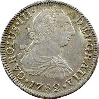 Espagne, Charles III, 2 réaux, 1782 Mexico