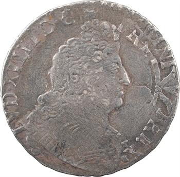 Louis XIV, demi-écu aux huit L, 2e type, 1705 Rouen