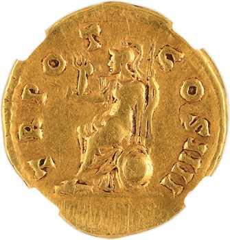 Antonin le Pieux, aureus, Rome, 145-161, NGC Choice fine 5/5 – 3/5