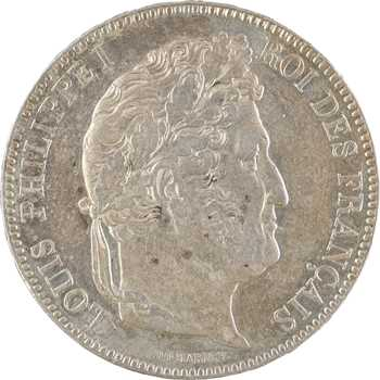 Louis-Philippe Ier, 5 francs IIe type Domard, 1843 Paris