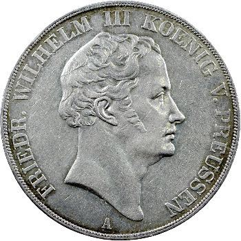 Allemagne, Prusse (royaume de), Frédéric-Guillaume III, double thaler, 1840 Berlin