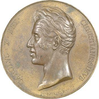 Charles X, médaille du sacre à Reims par Gayrard (Sb.92d), 1825 Paris