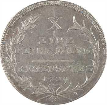 Allemagne, Confédération du Rhin, Charles von Dalberg, thaler, 1809 Ratisbonne
