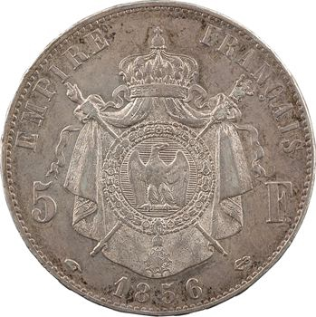 Second Empire, 5 francs tête nue, 1856 Paris