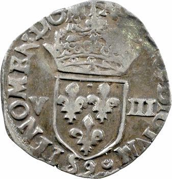 Henri III, huitième d'écu croix de face, 1585 Rennes