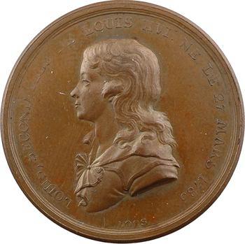 Louis XVII, la mort de Louis XVII, par Loos, en bronze, 1795 Berlin