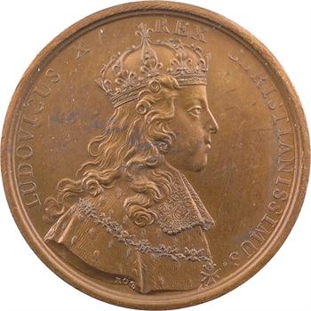 Louis XV, sacre à Reims le 25 octobre 1722, par Rög et Blanc, bronze, 1722 [1860-1880] Paris