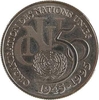 Ve République, 5 francs cinquantenaire de l'ONU, 1995 Pessac