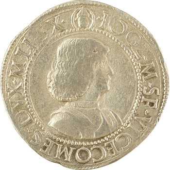 Italie, Milan (Duché de), Gian Galéaz Marie Sforza, teston, s.d. (1480-1494) Milan